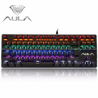 AULA F2012 Wired Mechanical Gaming Keyboard with Professional Blue Axis Keys Black Price Philippines