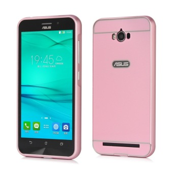 Moonmini PC Back Cover Metal Bumper Frame Case for Asus ZenFone Max ZC550KL (Pink) Price Philippines