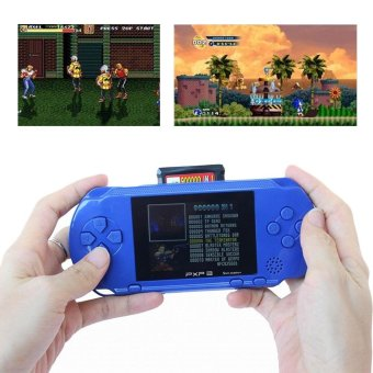 PXP3 Game Players Console 16 Bit 2.7 Inch Portable Handheld Video Game Retro Megadrive 150+ Games with 2pcs Game Card(Blue) - intl Price Philippines