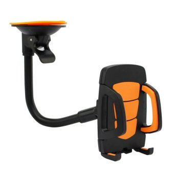 Harga Cable Monster A064 Mobile Phone Holder Silicon Sucker (Black/Orange)