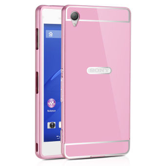 Z3 Metal Aluminum +Acrylic Back Funda Case For Sony Xperia Z3 D6603 D6643 D6653 Luxury Hybrid Hard Armor Cover(Pink) - intl Price Philippines