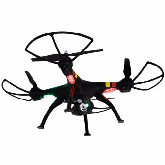 Harga Syma X8C Venture New Package 4 Channel 2.4G RC Quadcopter with 2.0 HD Camera 6 Axis 3D Flip Fly UFO (Black)
