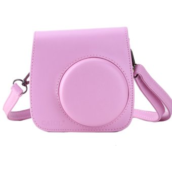 Instax Mini 8 Leather Camera Case Shoulder Bag Cover For Fuji Polaroid (Pink) - Intl