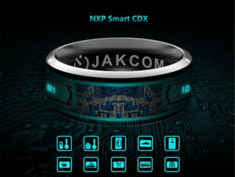 JAKCOM R3 NFC Technology Magic Smart Ring Black for Android IOS Windows Phone 11# Size - intl Price Philippines
