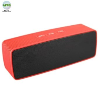 JC170 Wireless Bluetooth Speaker USB Flash FM Radio Stereo SuperBass MP3 Player(RED)