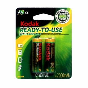 Kodak Ni-MH Pre-charged Rechargeable AA Battery 2100mAh 2 pcs