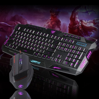 LED Gaming wire 2.4G keyboard and 5500DPI Mouse Set to ComputerMultimedia Gamer - intl