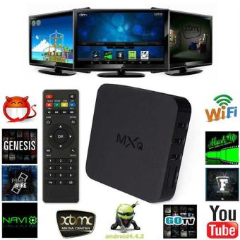 Leegoal Quad Core Android 4.4 TV Box Media Player 1080P HDMI WiFi8GB ,Black - intl
