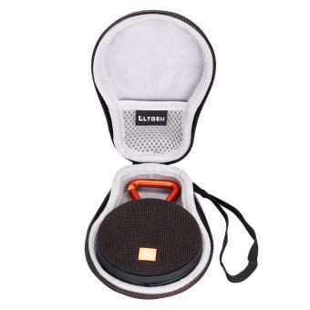 LTGEM Hard Travel Storage Carrying Case for JBLClip 2 Waterproof Portable Bluetooth Speaker with USB Cable and Charger (Black)