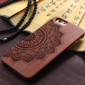 LYBALL Luxury Natural Wooden Wood Bamboo + PC Case For iPhone 6 6SPlus Hard Back Cover - intl