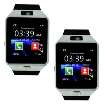 M9 Intelligent Phone Quad Smart Watch with Sim Card Slot(Black/Silver) Set Of 2