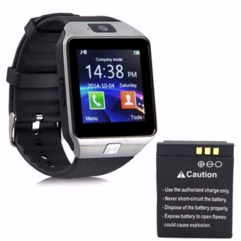 M99 Quad Phone Bluetooth Touch Screen Smart Watch (Black/Silver) with Extra Battery
