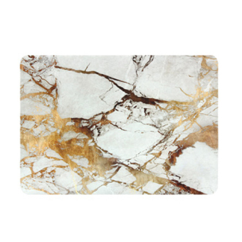 Marbling Protective Tablet Case For Apple Mac-book 11.6 Inch Air(white-gold) - Intl