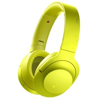 MDR-100ABN 103dB Stereo Subwoofer Wireless Bluetooth Headset (Yellow/Green)