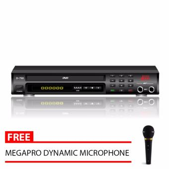 Megapro Doremi D-750 Karaoke DVD Player & MTV (Black) with FreeMegapro Microphone Price Philippines