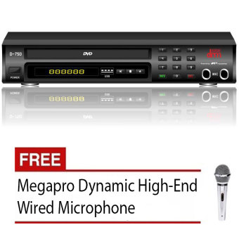 Megapro Doremi D-750 Karaoke DVD Player Up to 12,000 Songs & MTV (Black) with Free Megapro Wired Microphone Price Philippines