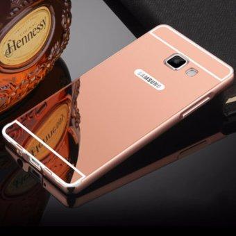 Metal Bumper Mirror Case for Samsung J7 Prime (Rose Gold)
