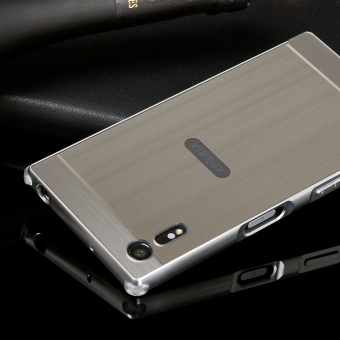 Metal Frame Bumper Case with Shockproof PC Cover Case for Sony Xperia XZ - Silver - intl