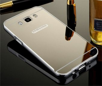Metal Frame Mirror Back Cover Protection Case For Sam sung Galaxy J7 2016 (Silver) - intl