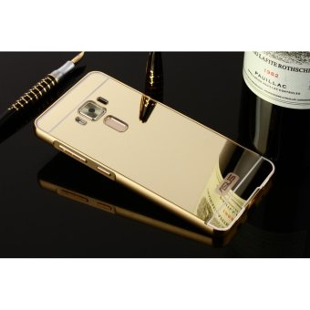 Metal mirror border Back Cover case For A sus ZenFone 3 Max (ZC553KL) (gold) - intl