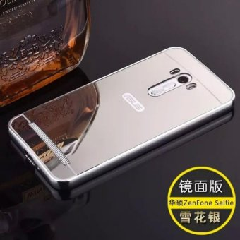 Metal mirror border Back Cover case For A sus Zenfone SelfieZD551KL (silver) - intl