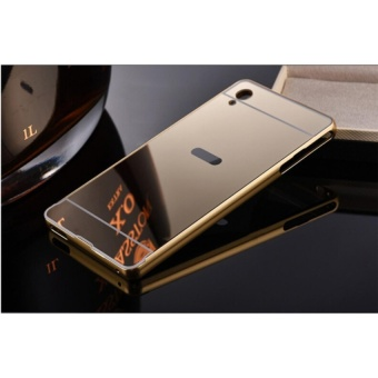 Metal mirror border Back Cover case For Sony Xperia XA1 ultra(gold)- intl