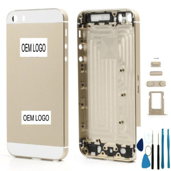 Metal Replace Gold Battery Door Housing Back Cover Case For iPhone5S housing