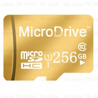 Micro Memory SD/TF Card Calss 10 256GB (Gold) - intl