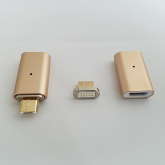 Micro USB Magnetic Charging Charger Match Cable Adapter for Samsungandroid Phones(Gold) - Intl