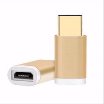 Micro USB to Type-C Adapter by Bwoo for Huawei P9 plus (Gold) Price Philippines