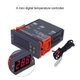 Mini Digital Temperature Controller 220V 10A LCD Display Thermostat for Refrigerators Farms - intl - 5