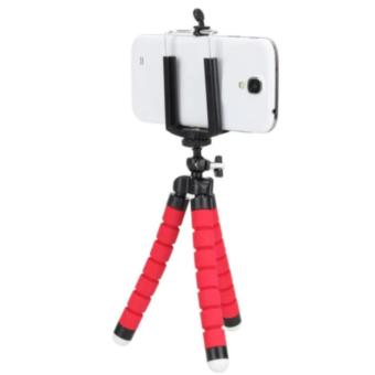 Mini Flexible Camera Tripod Octopus Tripod Holder Stand Mount for Phone Camera Universal Tripods for Gopro Hero3/4(RED)+Clip Holder - intl ...