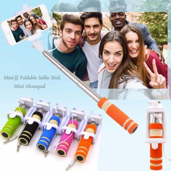 Mini-JJ Foldable Selfie Stick Mini Monopod (Orange)