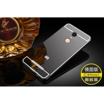 Mirror back cover phone case for Xiao mi Red mi Note 3/Black - intl