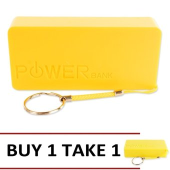 Mobile Portable 5600mAh Power Bank (Yellow) Buy 1 Take 1