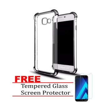 Mobilehub Fusion Silicone Shockproof Case for Samsung Galaxy A72017 with FREE Tempered Glass Screen Protector (Black) Price Philippines