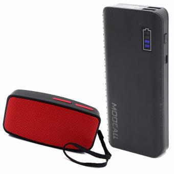 MODEALL M-05 20000mah Smart Power Bank (Black) With N10 U MiniBluetooth Speaker with FM Function (Red)