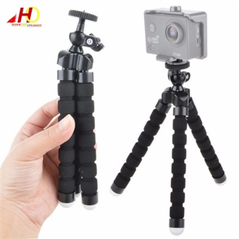 Monkey Pod Flexible Mini Tripod for DSLR, DSC, Camcorder (Black)