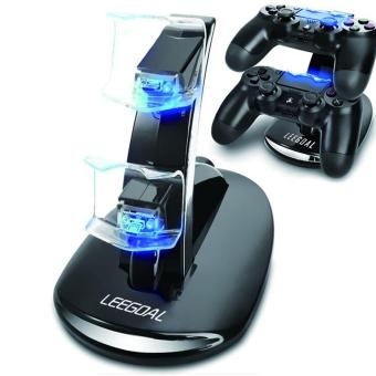 moob Dual USB Charging Dock Cradle Stand Controller for Playstation 4 PS4 (Black) Price Philippines