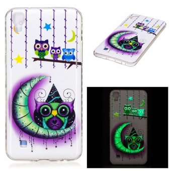 Moon owl Noctilucent TPU Soft Gasbag Back Case Cover For LG X Power Case - intl