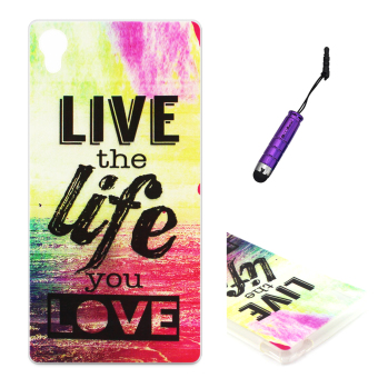Moonmini Ultra Slim Thin Soft TPU Phone Back Case Cover for SonyXperia M4 Aqua - Live the Life You Love Price Philippines