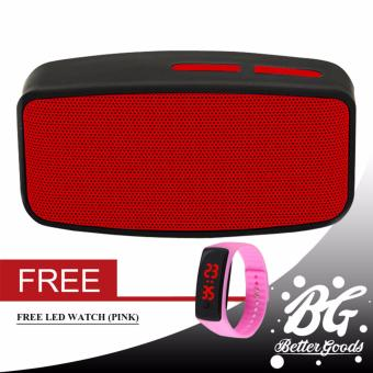 N10 Extreme Bluetooth FM Speaker (Red) With Free Led Bracelet Watch (Pink)
