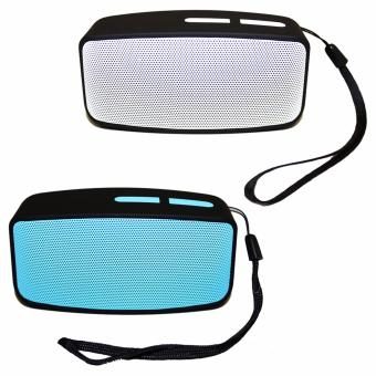 N10 U Mini Bluetooth Speaker with FM Function Set Of 2 (Gray andBlue)