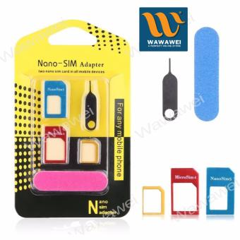 Nano SIM Adapter Nano to Micro SIM Micro SIM to Standard SIM CardAdapter 5 IN 1 Tools Kit