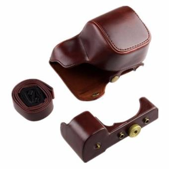 New PU Leather Camera Case Bag Cover for Sony A6300 - intl