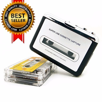 New USB cassette capture Player,Tape to PC, Super Portable USBCassette-to-MP3 Converter Capture - intl
