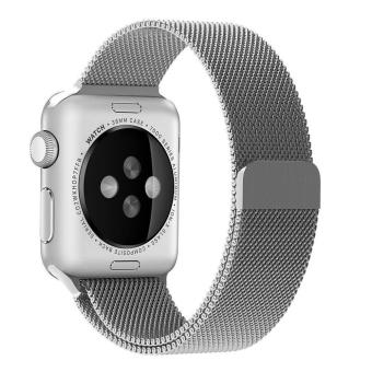 niceEshop Apple Watch Band Magnetic Clasp Mesh Loop MilaneseStainless Steel Replacement Strap For Apple Watch Sport Edition42mm Silver - intl