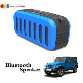 Nx-2014 Jeep Portable Bluetooth Speaker(BLUE) with Mic/ Radio /USB/Aux/ TF Slot