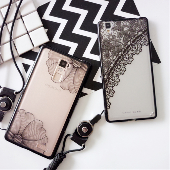 Oppo r9plus/R7/r7plus/a37/A59 lace lanyard all-inclusive origional cover phone case