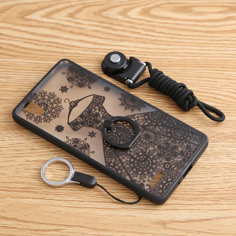 Oppoa51/a51t lace with ring support protective case phone case